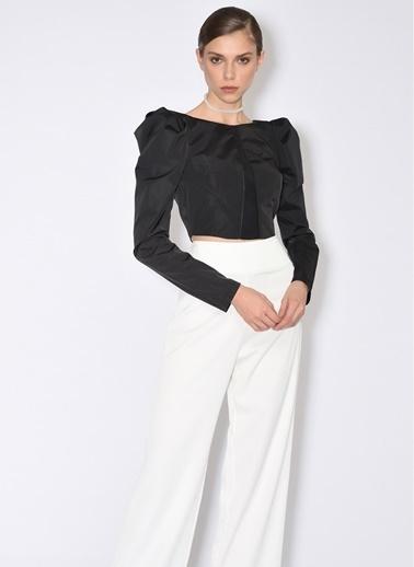 Tuba Ergin Beyaz Krep Pantolon Beyaz